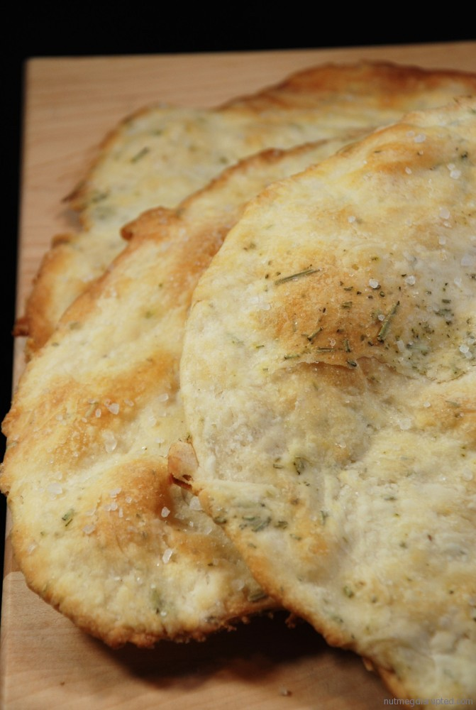 Crisp Rosemary Seasalted Flatbread! - Nutmeg Disrupted