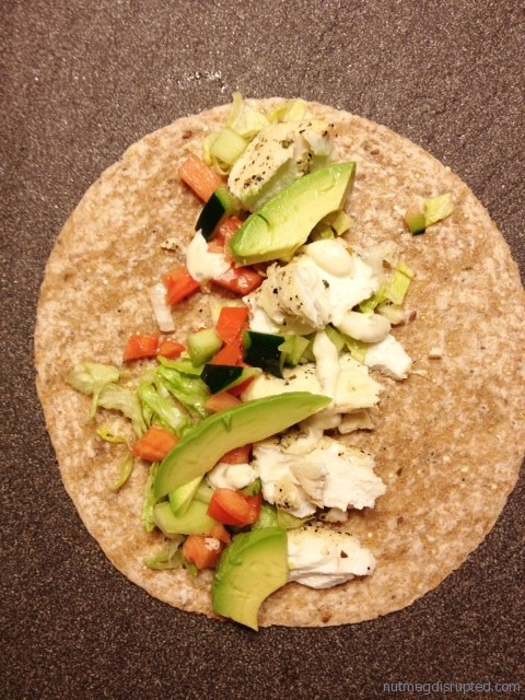 Butter poached halibut tacos with avocado and ponzu for Halibut fish tacos
