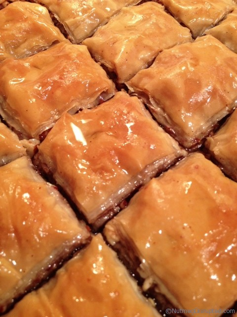 Making Baklava in the Nutmeg Disrupted kitchen.