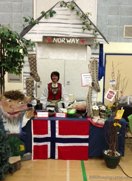 The Norway booth at The Taste of Barrhead