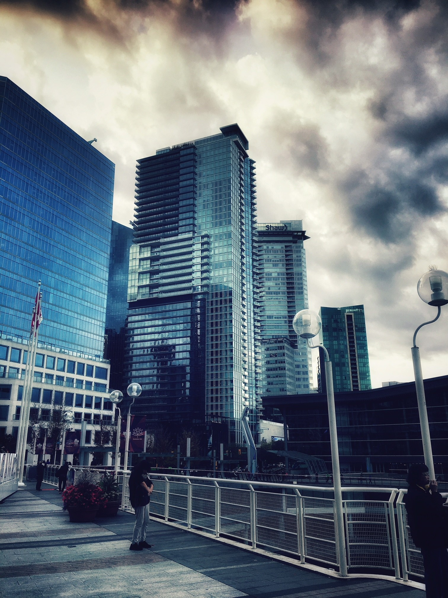 exploring downtown Vancouver