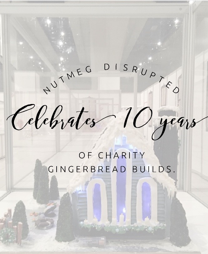 Nutmeg Disrupted celebrates 10 years of chairty gingerbread builds for Festival of Tree events across Alberta