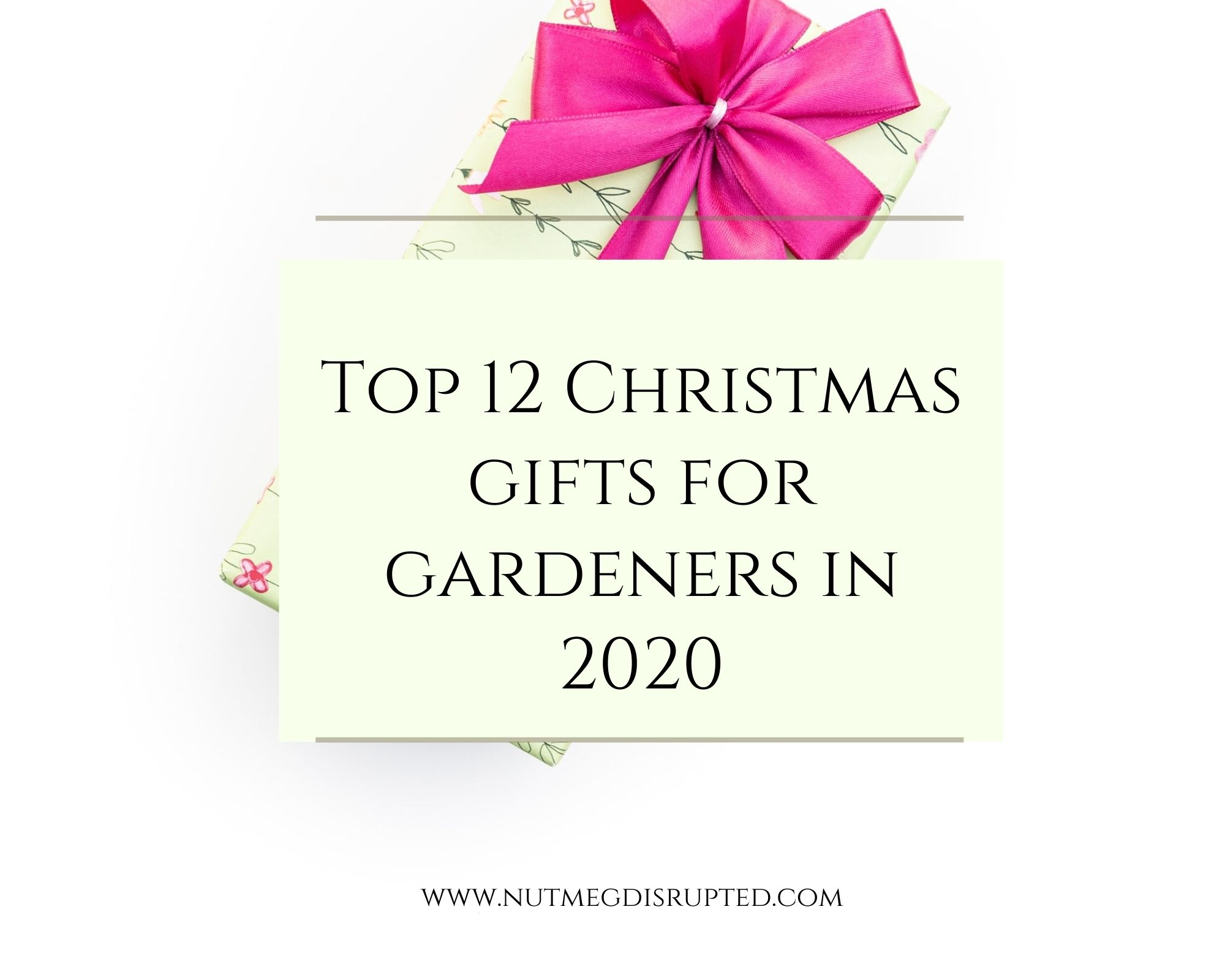 Top 12 Christmas Gifts for Gardeners in 2020
