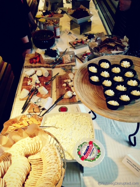 Some of the amaz\ing food samples at the First night of the food Bloggersof Canada Conference.