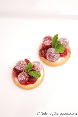 Sugared Cranberry bites from Nutmeg Disrupted