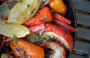 Grilled Lobster with Herbs