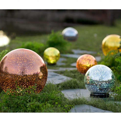 Gazing Balls are on the top 10 list of Christmas gifts for gardeners on Nutmeg Disrupted